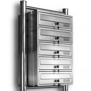 Kelvin® 5er Edelstahl Briefkasten Standanlage