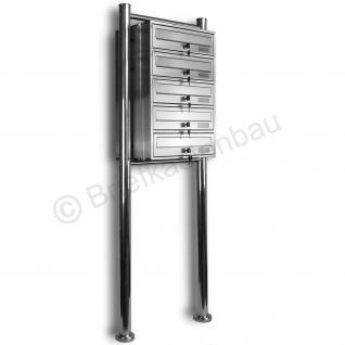Kelvin® 5er Edelstahl Briefkasten Standanlage - Vorschau 2