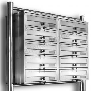 Kelvin® 10er Edelstahl Briefkasten Standanlage