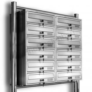 Kelvin® 12er Edelstahl Briefkasten Standanlage