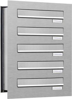 5er Edelstahl Mauerdurchwurf Briefkastenanlage verstellbar
