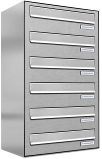 6er Edelstahl Tür / Zaun Durchwurf Briefkasten Anlage
