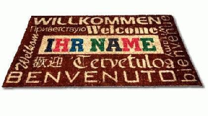 Ihre Designer Kokos Fußmatte mit Ihrem Namen bedruckt