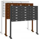 18er 3x6 Briefkasten Standanlage Premium in RAL-Farben