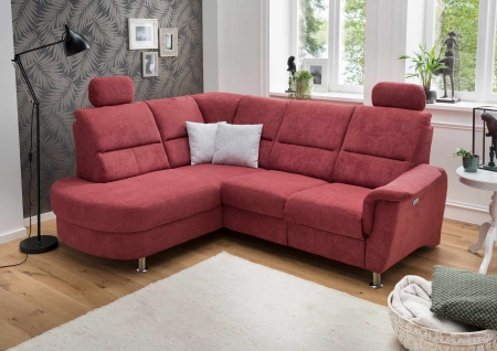 Funktionssofa in rot, Sofa