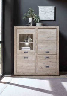 Highboard in Ancona Oak Nachbildung