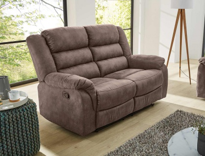 Sofa in braun, Relaxfunktion, 2-Sitzer