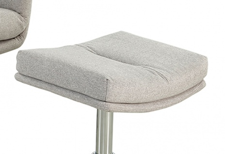 Relax Sessel, hellgrau, Webstoff, inkl. Hocker 4