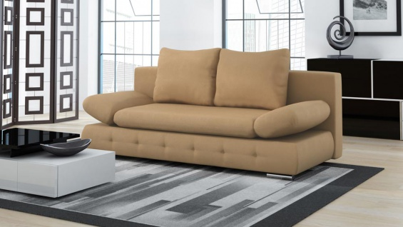 Doppelschlafsofa in taupe