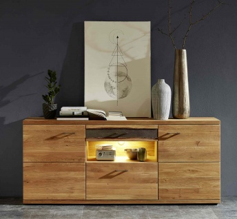 Sideboard mit Fronten in Wildeiche massiv