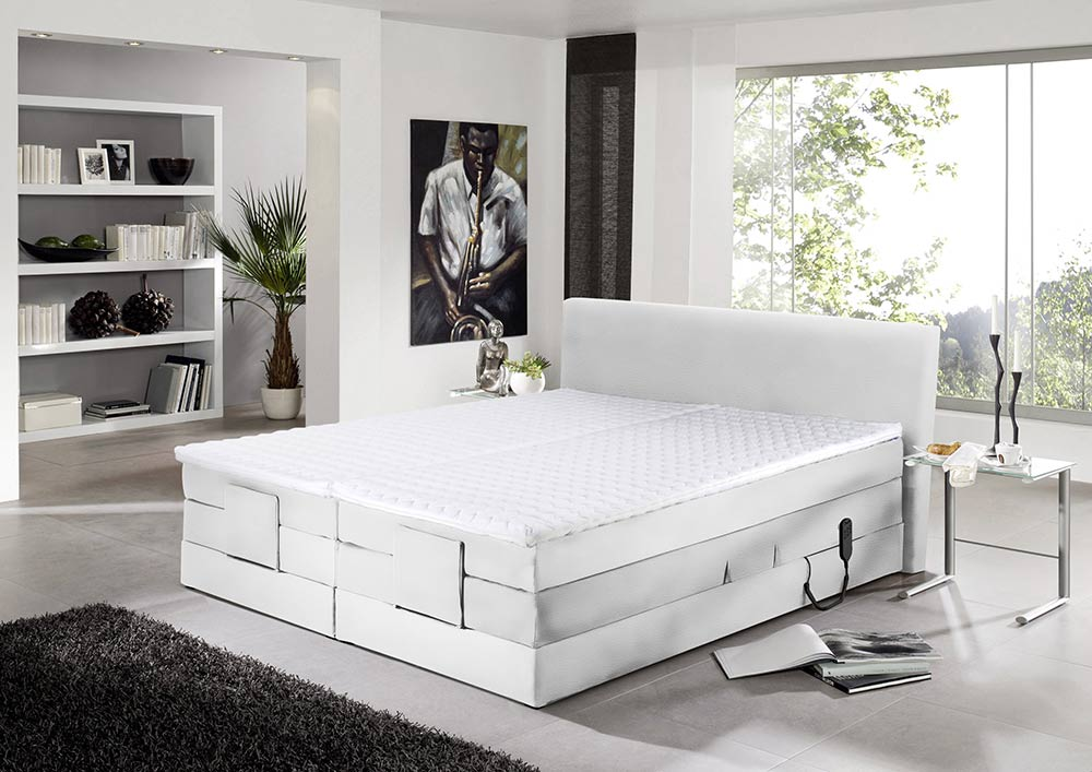 boxspringbett in wei kaufen bei lifestyle4living m belvertrieb gmbh co kg. Black Bedroom Furniture Sets. Home Design Ideas