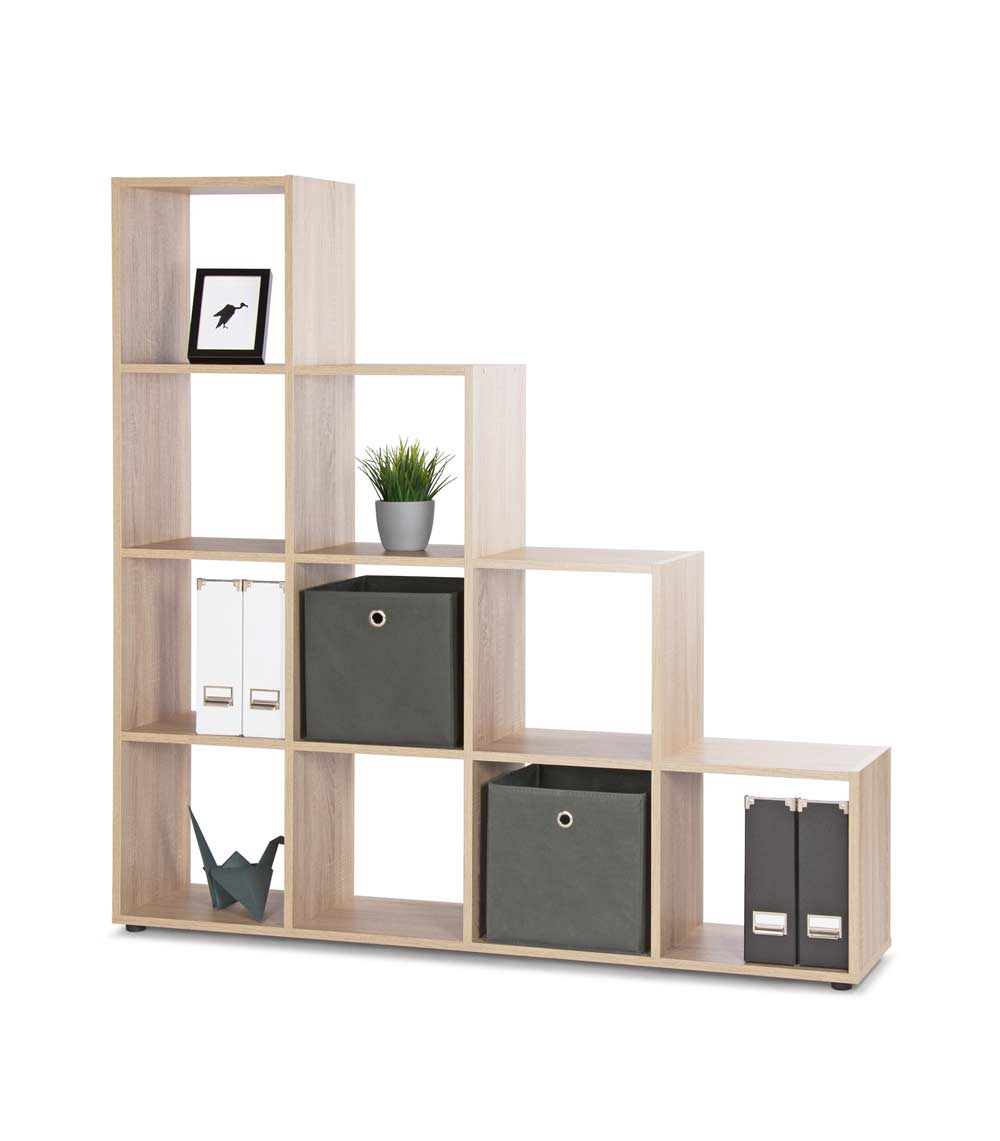regal mit 10 f chern in sonoma eiche nachbildung kaufen. Black Bedroom Furniture Sets. Home Design Ideas