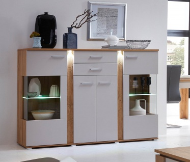 Highboard in champagner / Gran Oak Gold Dekor