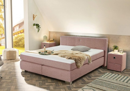 Boxspringbett in rosa