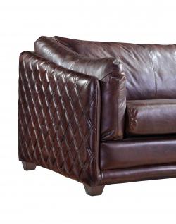 Ledergarnitur Oldham 3-Sitzer, 2-Sitzer und Sessel 3+2+1 - Vorschau 2