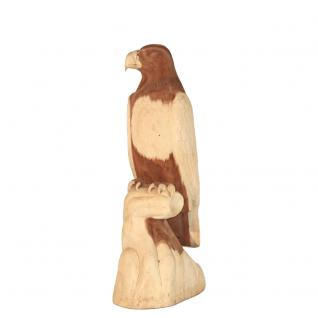 Wohndekoration Vogelskulptur Adler aus Teakholz ca. 100 cm