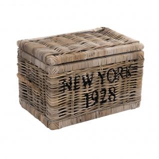Korbtruhe New York 1928 Korb Rattan Rattankorb Naturrrattan Geflecht