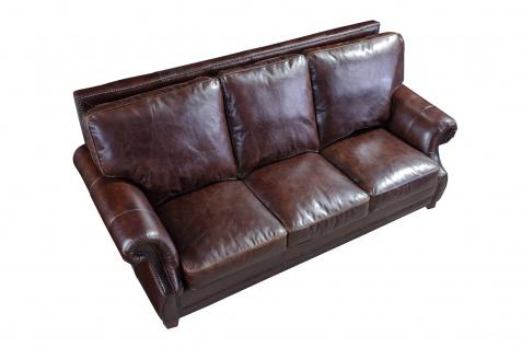 Ledergarnitur Wexford 3-Sitzer, 2-Sitzer und Sessel 3+2+1 - Vorschau 5