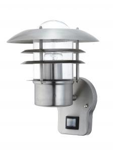 Wandlampe Außenleuchte Außenlampe Saturn Bewegungsmelder Edelstahl IP44 LED geeignet Wandleuchte Lampe