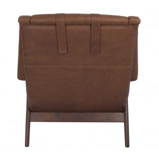 Lehnsessel Seacroft Chocolate Brown Ledersessel Echtleder Loungesessel Leder Sessel - Vorschau 4