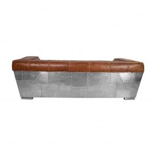 Clubsofa Longford 2, 5-Sitzer Vintage-Leder Chrom - Vorschau 4