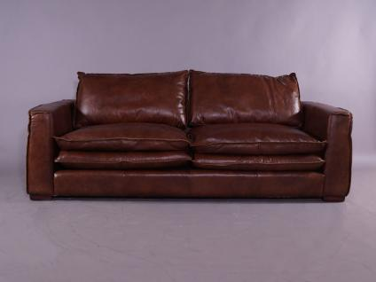 Clubsofa Burlington 2, 5-Sitzer Montaigne Brown Vintage Leder - Vorschau 2