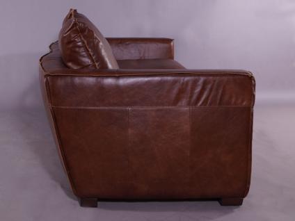 Clubsofa Burlington 2, 5-Sitzer Montaigne Brown Vintage Leder - Vorschau 3