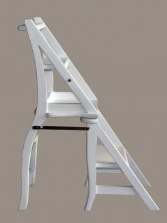 Leiterstuhl Mahagoni weiß weiss Klappstuhl Treppenstuhl - Vorschau 5