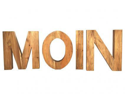 Buchstabensatz Moin M Holzbuchstabe Teakholz Teak massiv