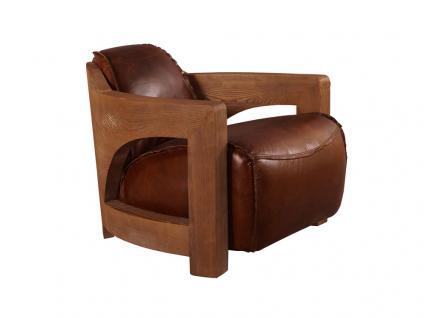 Design Clubsessel Clifford Special Holz rustikal Vintage Leder