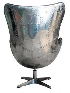 Drehsessel Agent Light Java Vintage Leder Aluminium - Vorschau 3