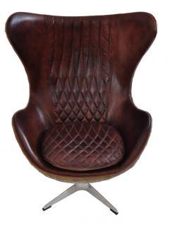 Drehsessel Cobham Montaigne Brown Vintage Leder - Vorschau 2