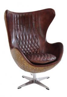 Drehsessel Cobham Montaigne Brown Vintage Leder - Vorschau 1