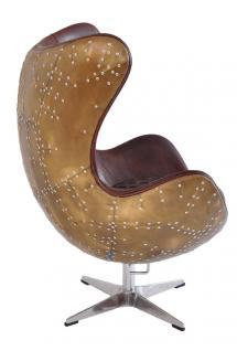 Drehsessel Cobham Montaigne Brown Vintage Leder - Vorschau 3