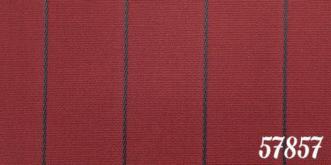 Strandkorb Kampen Mocca 2, 5-Sitzer Rot Nadelstreifen PE Vollieger - Vorschau 4