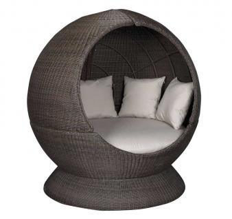 Sonneninsel Nest Lounge mit Sockel, einseitig offen, Cubu Croko