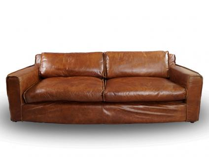 Clubsofa Redhill 2, 5-Sitzer Vintage Leder Montaigne Brown