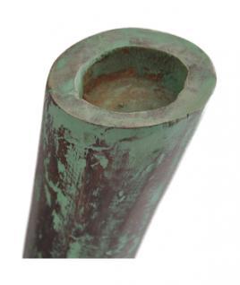 Teak Holz Stand Teelicht Halter Teakholz 3er SET mintgrün patiniert NEU - Vorschau 2