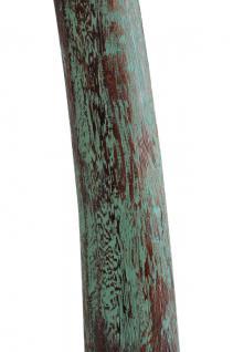 Teak Holz Stand Teelicht Halter Teakholz 3er SET mintgrün patiniert NEU - Vorschau 3