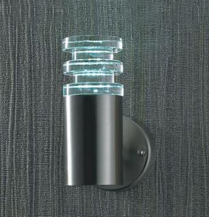 LED Aussen-Wandleuchte Diffusor Effektleuchte Wandlampe Lampe Stahl Wandlampe