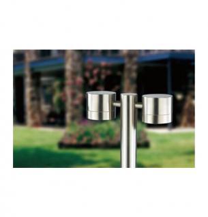 XXL Edelstahl Standleuchte Socket Wegleuchte 80 cm E27 Leuchte Lampe - Vorschau 2