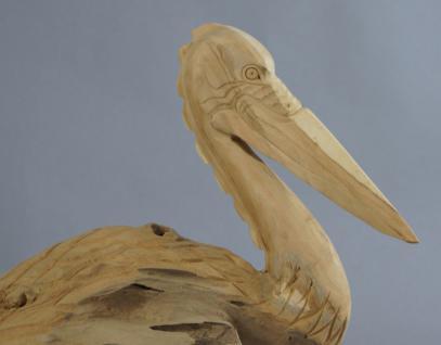"Wohndekoration Vogelskulptur ""Pelikan"" aus Teakholz - Vorschau 4"