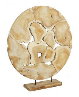 wohndekoration runde skulptur aus teakholzscheiben teakholz l kaufen bei mehl wohnideen. Black Bedroom Furniture Sets. Home Design Ideas