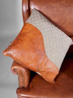 "Kissen ""Saddle"" Columbia - Vintage Leder, Leinen - Vorschau 3"