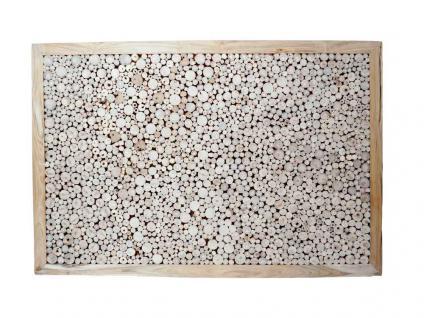 """Teakholz-Deko Bild """"Flat Slices"""" 120x80 cm"""