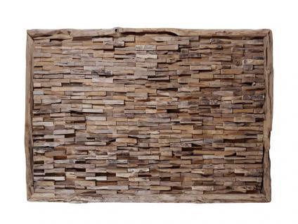 """Teakholz-Deko Bild """"Bricks"""" 120x80 cm"""