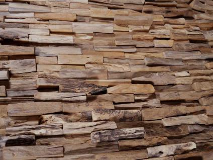 "Teakholz-Deko Bild ""Bricks"" 120x80 cm - Vorschau 2"
