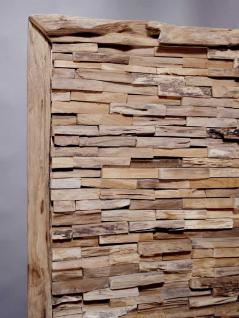 "Teakholz-Deko Bild ""Bricks"" 120x80 cm - Vorschau 3"