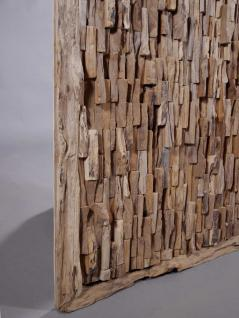 "Teakholz-Deko Bild ""Bricks"" 120x80 cm - Vorschau 4"