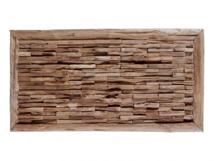"""Teakholz-Deko Bild """"Bricks"""" 80x40 cm"""